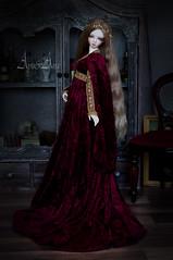 Lady's Portrait (AyuAna) Tags: bjd ball jointed doll dollfie ayuana design handmade ooak clothing clothes dress set historical fantasy renaissance style sadol yena love60 body whiteskin