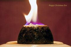 Christmas eve (359/366) (AdaMoorePhotography) Tags: nikon christmas eve d7200 105mm 105mmf28 fire flame purple red blue pudding xmas christmaspudding december holidays