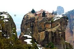 Meteora in Greece (BaraWalker) Tags: greece meteora monastery varlaan monument history nature rocks landscape wonder amazing winter holy travel explore