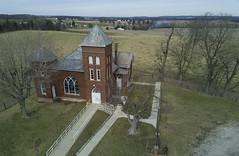 Zion Church of Thornville Ohio (player_pleasure) Tags: zion church ariel drone magicpro rural ohio winter