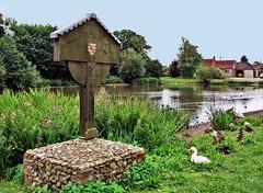I'm the Village sign at Stanhoe (saxonfenken) Tags: pregamewinner 7351lake 7321 pond village sign madeofwood ducks friendlychallenges