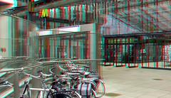 Metro-station Wilhelminaplein Rotterdam 3D (wim hoppenbrouwers) Tags: metrostation wilhelminaplein rotterdam 3d anaglyph stereo redcyan