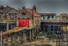 The Old Pier (MattSnapsPhotography) Tags: wood bernbeck iron england damaged old brick clock sea weston red windows ruin tiles roofs sky rocks railings listed lifeboat amusements architecture peir fire lrnli tower seaside