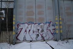 Tampere graffiti (Thomas_Chrome) Tags: graffiti streetart street art spray can wall walls hatanpää trackside illegal vandalism winter suomi finland tampere europe nordic chrome