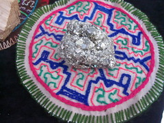 Crystal Caught My Eye (emilyborhi) Tags: crystal geode silver shiny bright light sparkles open mind festival montreal market hippie psychonaut psytrance music seller knit pattern mayan stitch catalyseur de transformations
