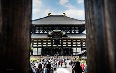 Through the door of Eastern Great Temple, Nara, Japan (Photo Alan) Tags: travel temple easterngreattemple nara japan building door architecture outside buddhisttemple