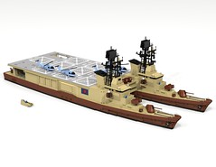 Taniwha-class helicopter carrier (Thomas of Tortuga) Tags: lego ldd render dcvi amphibious assault carrier marines