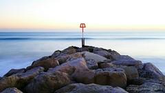 hengistbury winter seas sunset (SCRIBE photography) Tags: uk england dorset bournemouth hengistburyhead beach seascape sand sea rocks groyne
