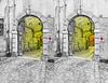 3D corners of an old town / 5 (Foto&Grafica 2D/3D) Tags: drawing 3d stereoscopy stereophotography manipulation rovereto trentino italy