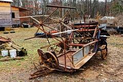 Antique Farm Equipment (Paul's Captures (paul-mashburn.artistwebsites.com)) Tags: tractor oldtractor johndeere bronco valentinemills