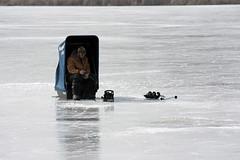 Ice Fisherman (The Real Maverick) Tags: torontoparks highpark outdoor winter toronto ontario canada ice grenadierpond icefishing