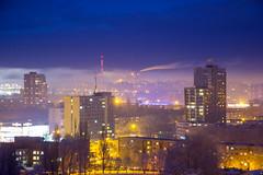 IMG_8653 (KarolisKybartas) Tags: klaipėda nightphotography long exposure city lights landscape snow winter roofs buildings building evening night