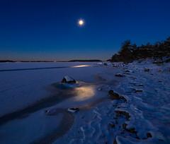 The East Coast of Sweden (ZoeEnPhos) Tags: canontse17mmf4l canoneos5dmarkii sandemar balticsea seascape sweden winter seaice snow moonlight starrysky ice dalarö stockholmsskärgård archipelagoofstockholm