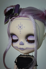 Spooky lilac girl (lolidolicustoms) Tags: doll blythe takara ooak custom commission calavera lolidoli lilac dead