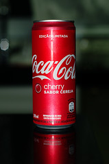 Coca Cola Cherry (Limited Edition) (KatiaUK) Tags: d300 brasil cherry coca cola can red 50mm f14d