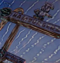 Speedee at McDonald's 3 (tobysx70) Tags: polaroid sx70 sonar emulsion manipulation time zero tz instant film speedee at mcdonalds lakewood boulevard blvd downey california ca neon sign 1953 oldest operating hamburgers big mac french fries fast food restaurant golden arches toby hancock photography