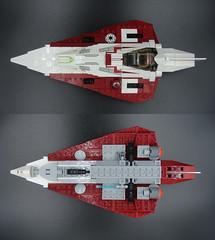 Jedi Starfighter 003 (E-Why) Tags: obiwan kenobis delta7 aethersprite class light lego starfighter interceptor star wars clone