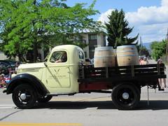El Dorado hotel truck (jamica1) Tags: canada truck hotel bc wine barrels okanagan may columbia days eldorado parade british kelowna rutland 2015