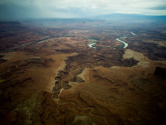 Lathrop Canyon (strayfoto) Tags: photography utah sandstone aerial fromabove coloradoriver canyonlands moab cessna mesaarch quinnhall strayfoto