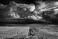 Tiempo de tormenta (una cierta mirada) Tags: sky blackandwhite storm nature weather clouds landscape monocromo mare nuvola stormy explore cielo e nubes acqua bianco nero cloudscape paesaggio biancoenero surreale allaperto