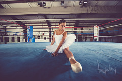 Ballerina in a boxing ring (Tony Weeg Photography) Tags: ballet photography dance ballerina box dancer tony ring boxer boxing chandler 2015 weeg tonyweeg tonyweegphotography