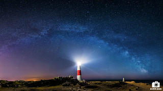 Milky Way over Portland Bill Lighthouse