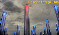Enel Pavilion (Alberto04) Tags: world sky italy milan colors lights europa europe flickr italia expo milano cielo pavilion luci colori hdr mondo enel photomatix padiglione canoneos700d