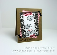 Love You Tons using Lawn Fawn (zedsquaredcrafts) Tags: elephantlove silhouetteportrait loveyoutons lawnfawn