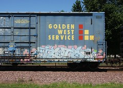 Isto (quiet-silence) Tags: railroad art train graffiti flat railcar boxcar graff freight isto tci goldenwest akb fr8 ssw24314