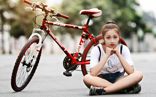 Lovely Girl With Cycle Hd Wallpaper A Photo On Flickriver