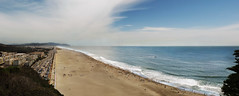 Sunday at Ocean Beach, San Francisco POV Sutro Park, The Richmond;  July 19, 2015 (Stephen Wade Thomson) Tags: sf sanfrancisco composite sunday oceanbeach hotday beachgoers hightemperatures sanfranciscobeach peopleatthebeach sundayatthebeach hotdayatthebeach july192015