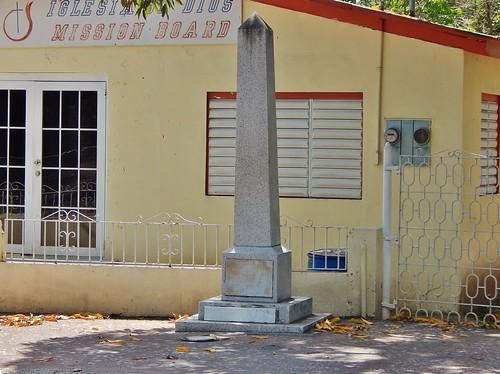 Obelisk of Cmdt. Rafael Martínez Illescas, Coamo, Puerto Rico.