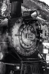 D&SNG 486 (twofun_01) Tags: bw monochrome colorado silverton trains durango railroads dsng