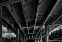 Under the bridge (PhillthyPhill) Tags: street city bridge bw white black canon stockholm under symmetry grayscale rookie
