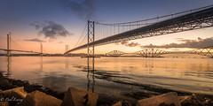 Tranquil Morning (Paul S Ewing) Tags: edinburgh uk scotland port edgar southqueensferry forthbridges calm