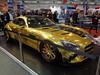 Mercedes GT (911gt2rs) Tags: messe event show motorshow tuning tief low stance coupe gts widebody bodykit breit breitbau pd800gt prior design gold chrom c190