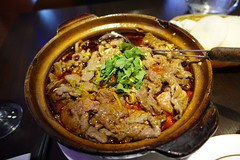Water-boiled beef in Chili Sauce @ Chez Yong @ Paris (*_*) Tags: paris france europe city december 2016 winter cold saturday newyearseve chezyong chinese restaurant food china 75013 paris13 asian poached beef meat marmitte spicy oil sichuan szechuan shuizhunyuro boeuf tofu