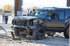 Ambulance hit Head On In Apple Valley (gabrieldespinoza) Tags: car accident victorville hesperia pedestrian news vvng victorvalleynews