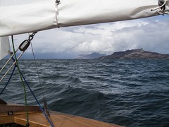 Eigg and Rum to starboard (tiggerpics2010) Tags: wayfarerdinghy smallisles easter scotland westernisles rum eigg muck