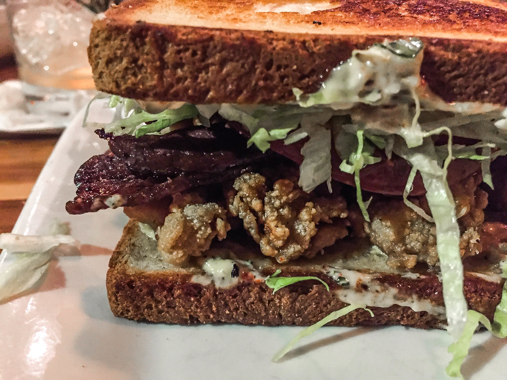 Fried Oyster and Bacon Sandwich at Cochon - New Orleans, Louisiana ...