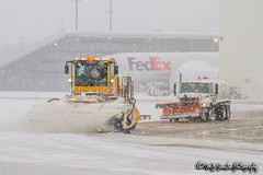 FedEx Ramp Operations | Memphis International Airport (M.J. Scanlon) Tags: boeing jet aircraft airliner jetliner fedex federal express cargo freight haul hauling lease scanlon canon 7d memphis tennessee white plain conversion door container load offload cloudy grey ramp gate outdoor outdoors fly flying loading dolly vehicle airplane jumbo md snow deice de ice anti fluid cold flakes brrrrrr trucks operations