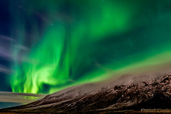 Aurora Borealis (Explored 09/02/17) (Daniel Coyle) Tags: auroraborealis aurora northernlights stars astronomy astrophotography selfoss selfossi iceland danielcoyle nikon nikond7100 d7100 night nightphotography nightshot nightonearth snow mountain cloudy longexposure outdoor countryside