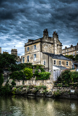 House in Bath, UK (ErikN86) Tags: hdr house bath uk europe hdri sky water tree building architecture sony sonydslr sonya77ii