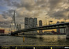 Erasmusbrug At Sunset (andrewtijou) Tags: andrewtijou nikond7200 europe netherlands southholland dutch rotterdam nieuwemaas river water port dock erasmusbrug bridge sunset nl