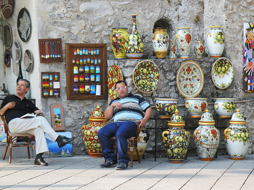 A pottery shop in Ravello