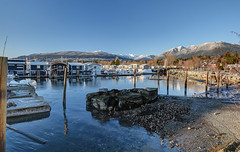 North Van (Romain Collet) Tags: canada vancouver d7100 nikon paysage landscale snow mountain water ocean boats houses nature sky blue beautiful british columbia north bc