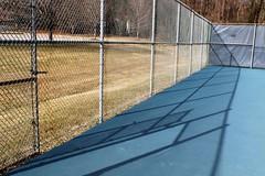 Garrison Forest ~ fences & shadows (karma (Karen)) Tags: garrisonforest owingsmills maryland tenniscourts fences shadows shadowplay fencefriday hff cmwd