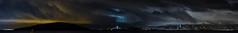 craneway pier panorama (pbo31) Tags: bayarea california nikon d810 color january 2017 winter boury pbo31 sanfrancisco night dark black richmond contracostacounty panoramic large panorama stitched baybridge easternspan 80 sky skyline city fog storm rain marinabay