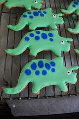 IMG_3779 (TMM Cotter) Tags: dinosaur triceratops cookie decorated iced royal icing spots candy eyeball eyes speckled