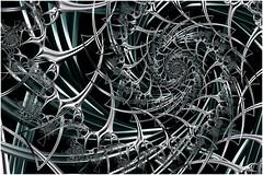 Deep Space Vortex (Ross Hilbert) Tags: fractalsciencekit fractalgenerator fractalsoftware fractalapplication fractalart algorithmicart generativeart computerart mathart digitalart abstractart fractal chaos art mandelbrotset juliaset mandelbrot julia orbittrap metal sculpture spiral fusion